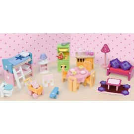 Le Toy Van Daisy Lane Wooden Deluxe Starter Furniture Set