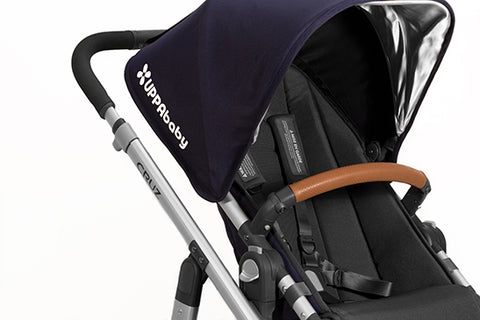 UPPAbaby Leather Bumper Bar Covers Saddle Tan