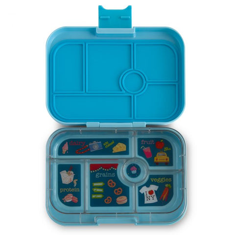 Yumbox 6 compartment Liberty Blue Open
