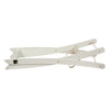 White Moses Basket Stand Folded