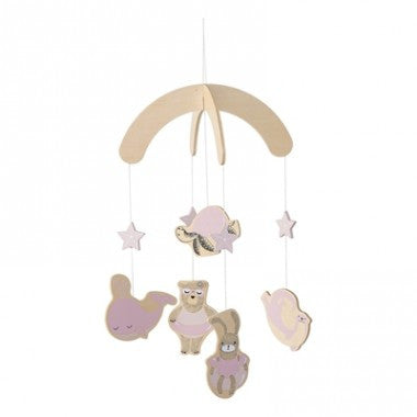 Sea Creatures Wooden Baby Mobile Girls