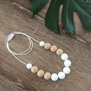 Nature Bubz Breathe Silicone Necklace White