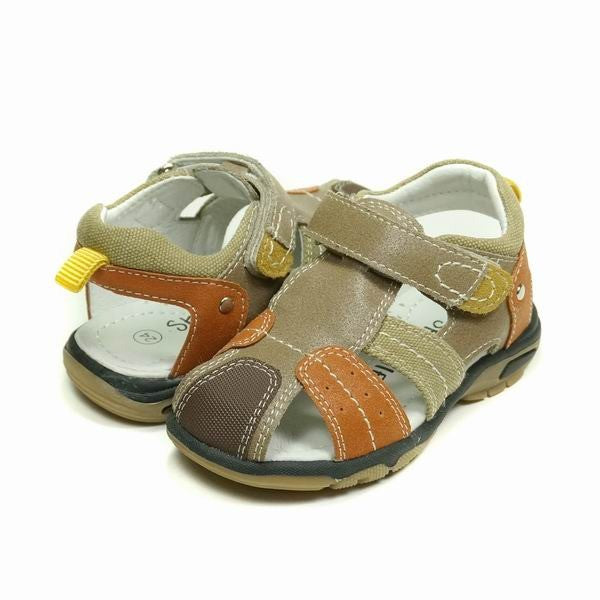 Skeanie All Terrain Boys Tan Leather Sandals