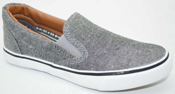 Boys Grey Canvas Shoe Grosby Bart Bolt