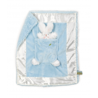 Bunnies By The Bay - Lulla Bunny Bye Binkie Bunny Blanket - Blue Baby Comforter