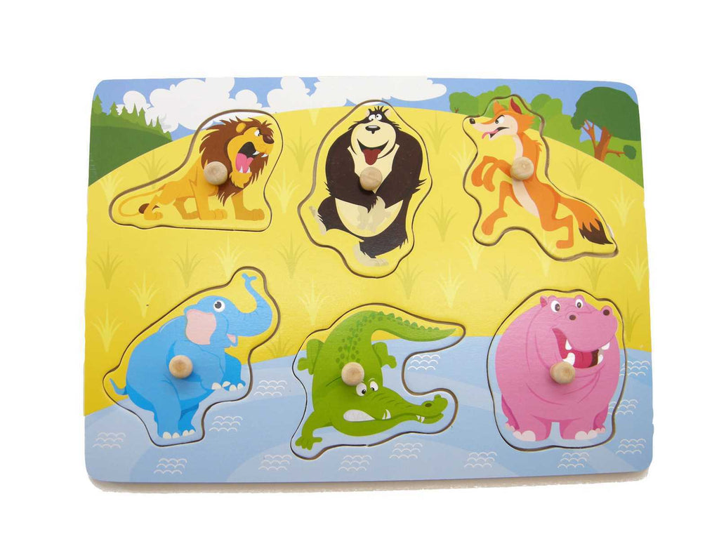 Jungle Animal Wooden Peg Puzzle