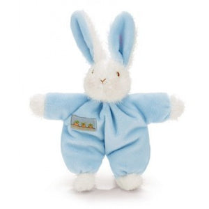 Bunnies By The Bay - Sweet Hops Bunny Soft Plush Baby Rattle - Blue