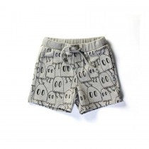 Little Horn - Boys Grey Ghost Party Summer Shorts