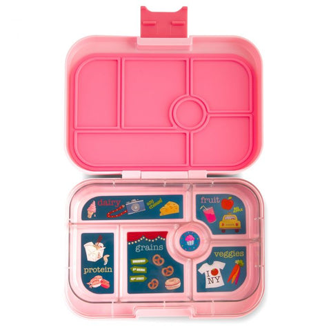 Yumbox 6 compartment Gramercy Pink Open