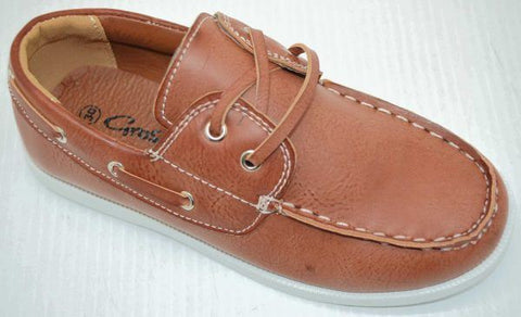 Boys Casual Lace Up Boat Shoe Garry By Grosby
