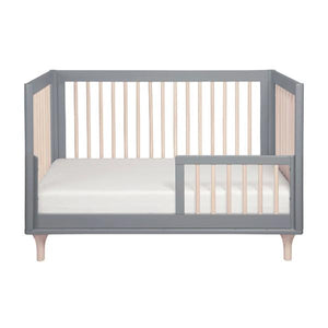 Babyletto Lolly Convertible Cot  -  Grey & Washed Natural