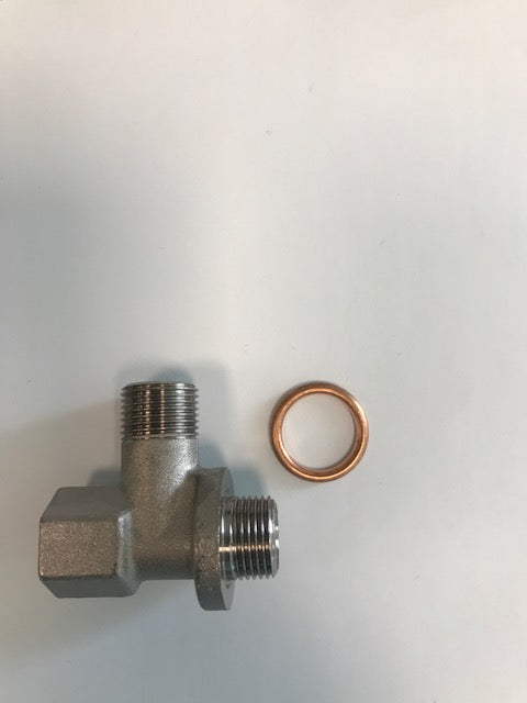 Boiler connection and gasket