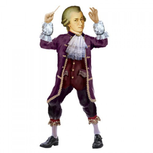 Mozart Shaped Card
