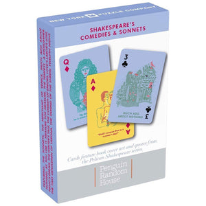 Shakespeare Comedies & Sonnets Playing Cards