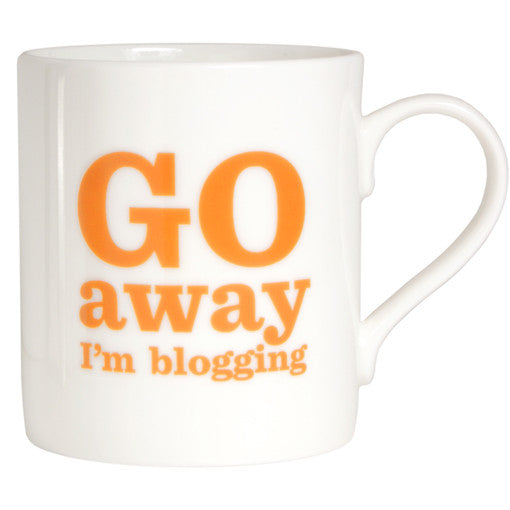 Go Away I'm Blogging Bone China Mug