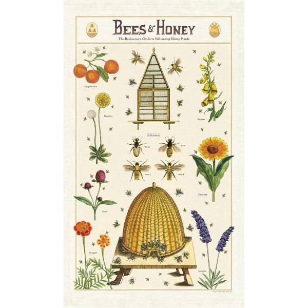 Bees & Honey Tea Towel