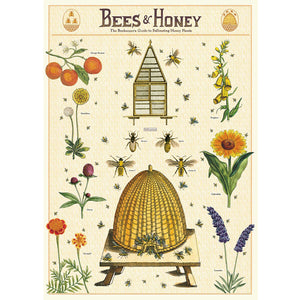 Bees & Honey Wrapping Paper / Poster