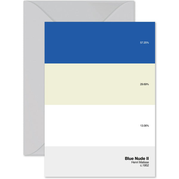 'Blue Nude II' Paint By Number Card