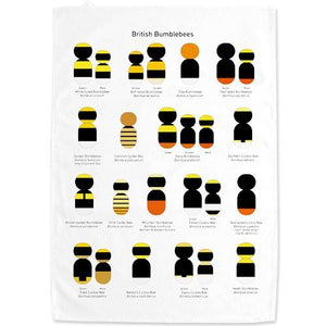 British Bumblebees Tea Towel