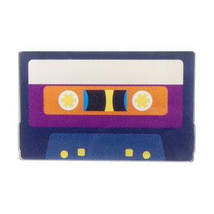 Cassette Acrylic Badge
