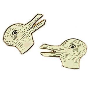 Duck-Rabbit Enamel Pin Set