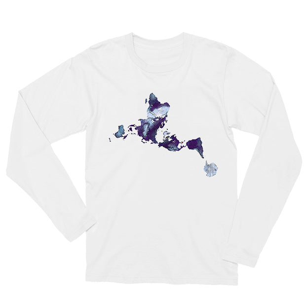 Dymaxion Ink Splash Long-sleeved Unisex T-shirt