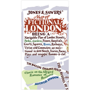 A Map of Fictional London -  now available as a map or poster