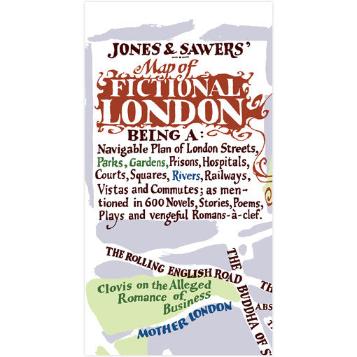 A Map of Fictional London - Map or Poster