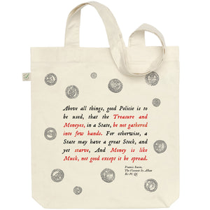 Francis Bacon 'Money is Like Muck' Tote Bag