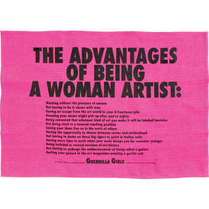 The Advantages Of Being A Woman Artist Tea Towel