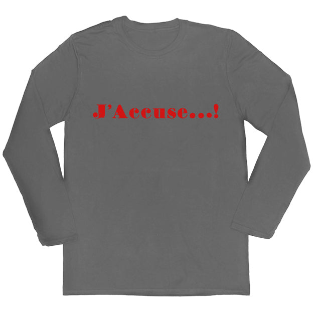 J'Accuse Long-sleeved Unisex T-shirt