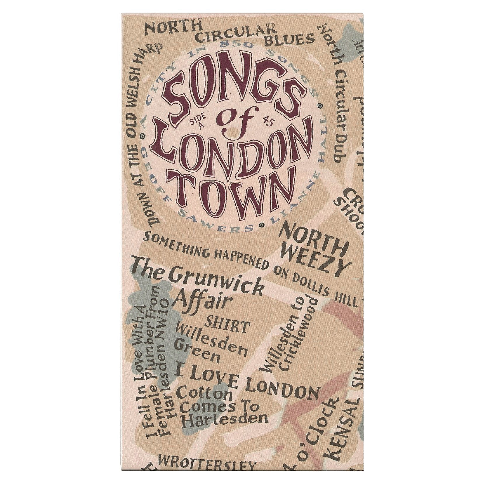 London Town Map.Songs Of London Town Map