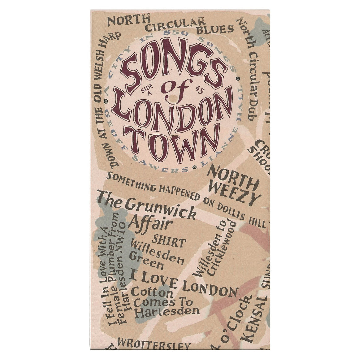 Songs of London Town Map