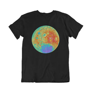 Topographical Moon Map Children's T-Shirt