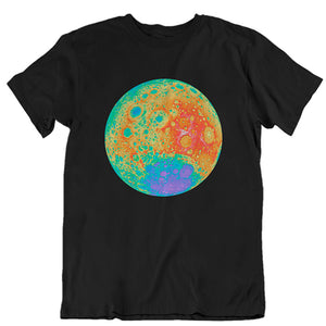 Topographical Moon Map Unisex T-shirt