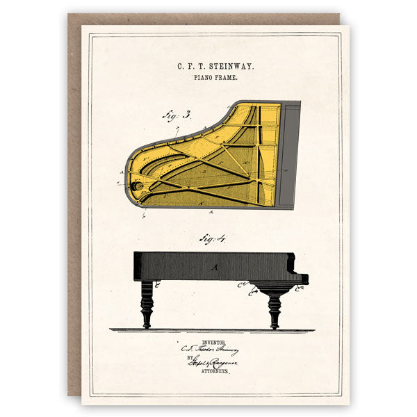 Steinway Piano Card