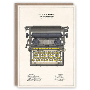 Typewriter Card