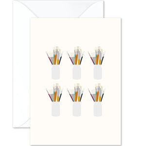 Paintbrushes Vintage Card