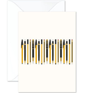 Pens And Pencils Vintage Card