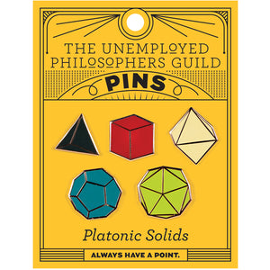 Platonic Solids Enamel Pin Set