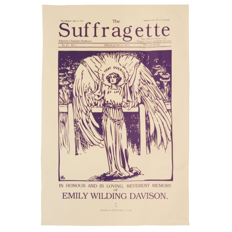 Emily Davison Suffragette Tea Towel
