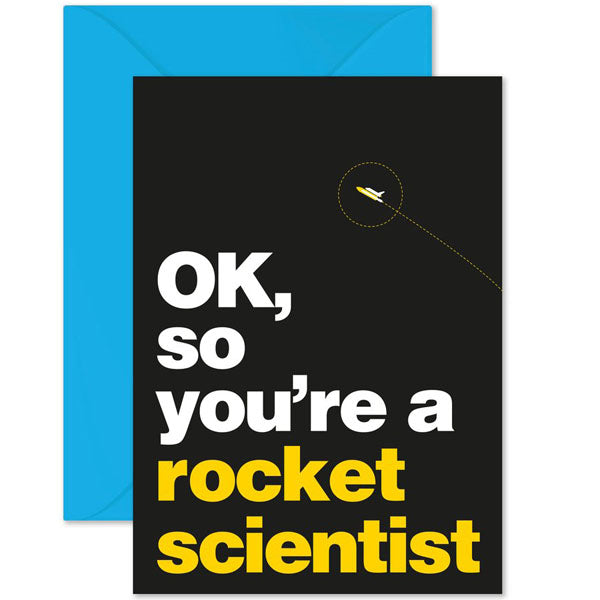Rocket Scientist Card