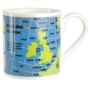 British Isles Sea Areas Mug