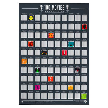100 Movies Scratch Off Bucket List Poster