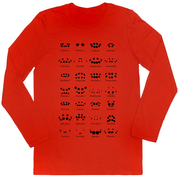 Spider Eye Arrangement Chart Long-sleeved Unisex T-shirt