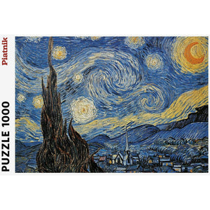 Van Gogh's Starry Night 1000 Piece Jigsaw Puzzle