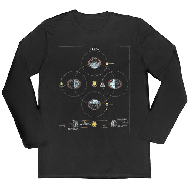 Tidal Diagram Long-sleeved Unisex T-shirt
