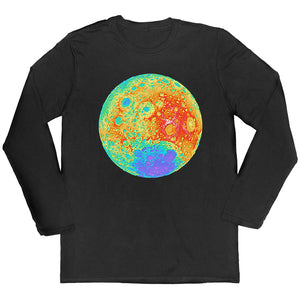 Topographical Moon Map Long-sleeved Unisex T-shirt