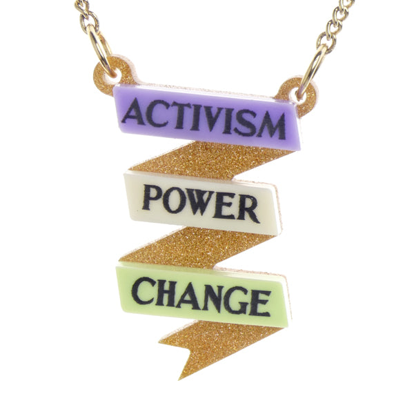 Activism, Power, Change Necklace