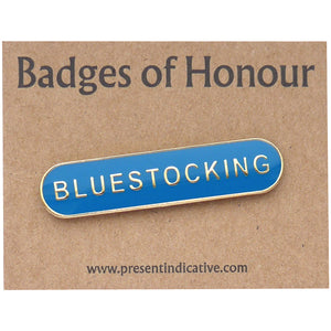 Bluestocking Enamel Pin